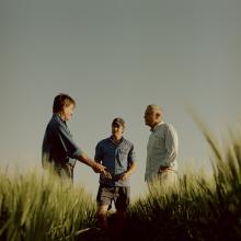 (L-R) James Kahl, Daniel Kahl, Dr Shane Norrish CEO Landcare Australia